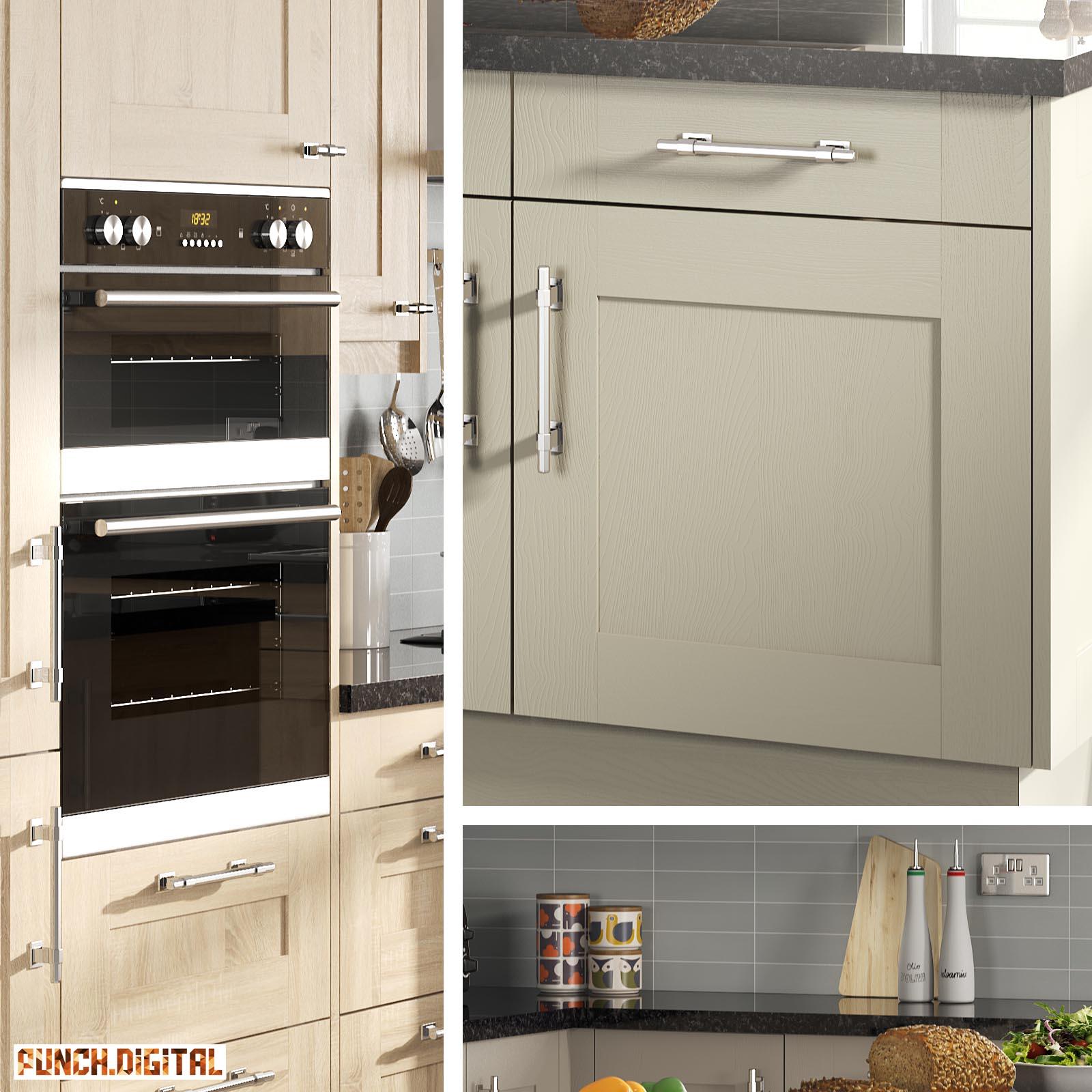 shaker kitchen project // interior cgi room set & product