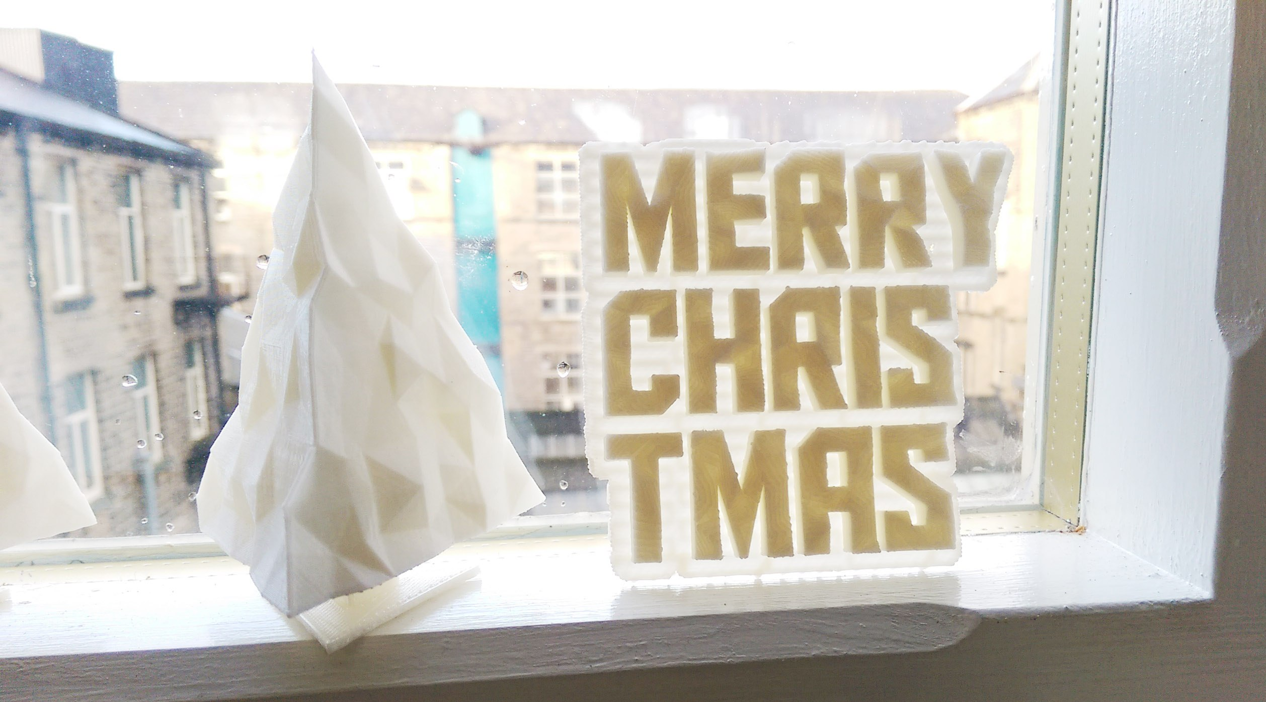3d print christmas tree text