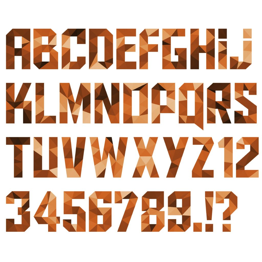 3D inspired font