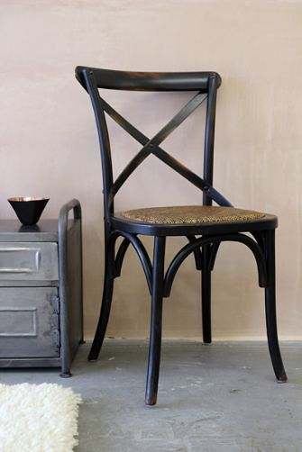 Black Cross Dining Chair