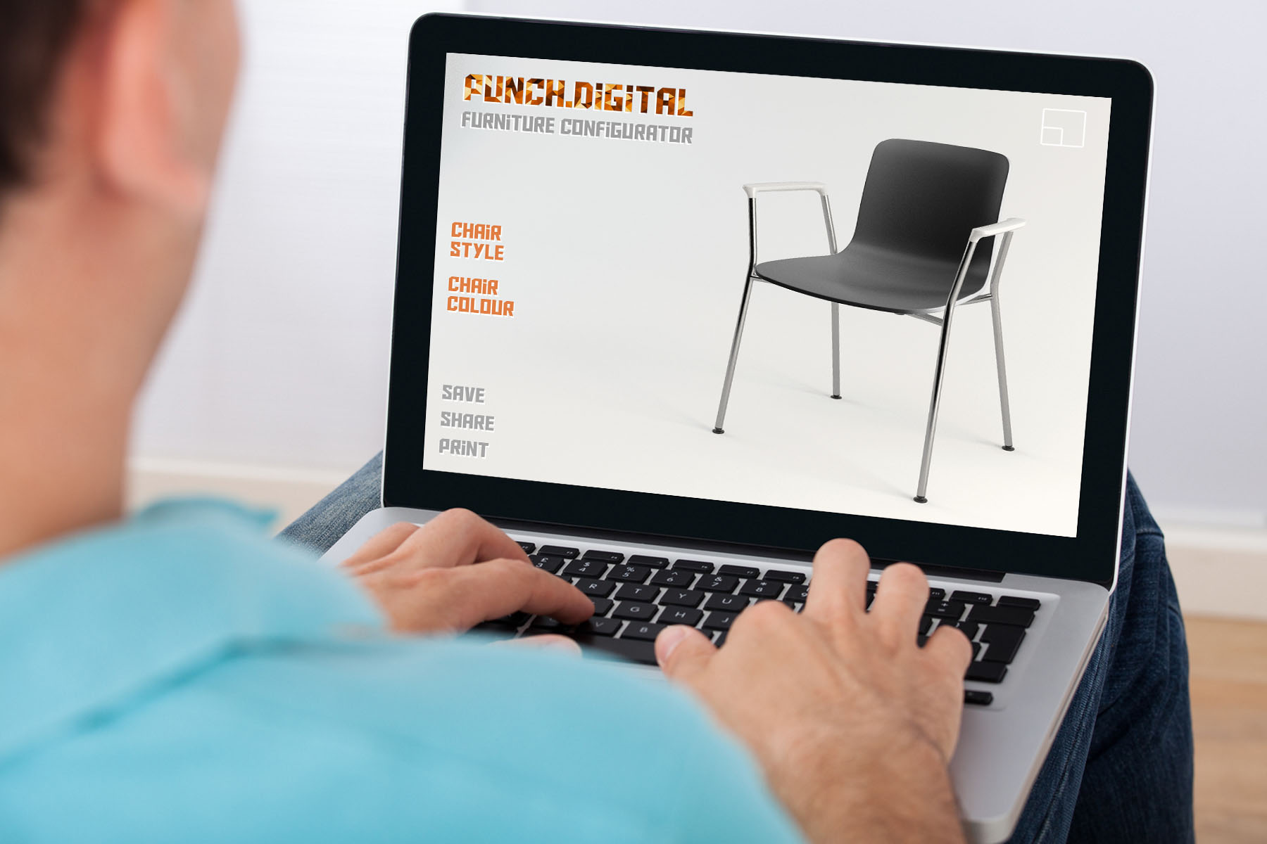 Furniture Configurator Chair Laptop
