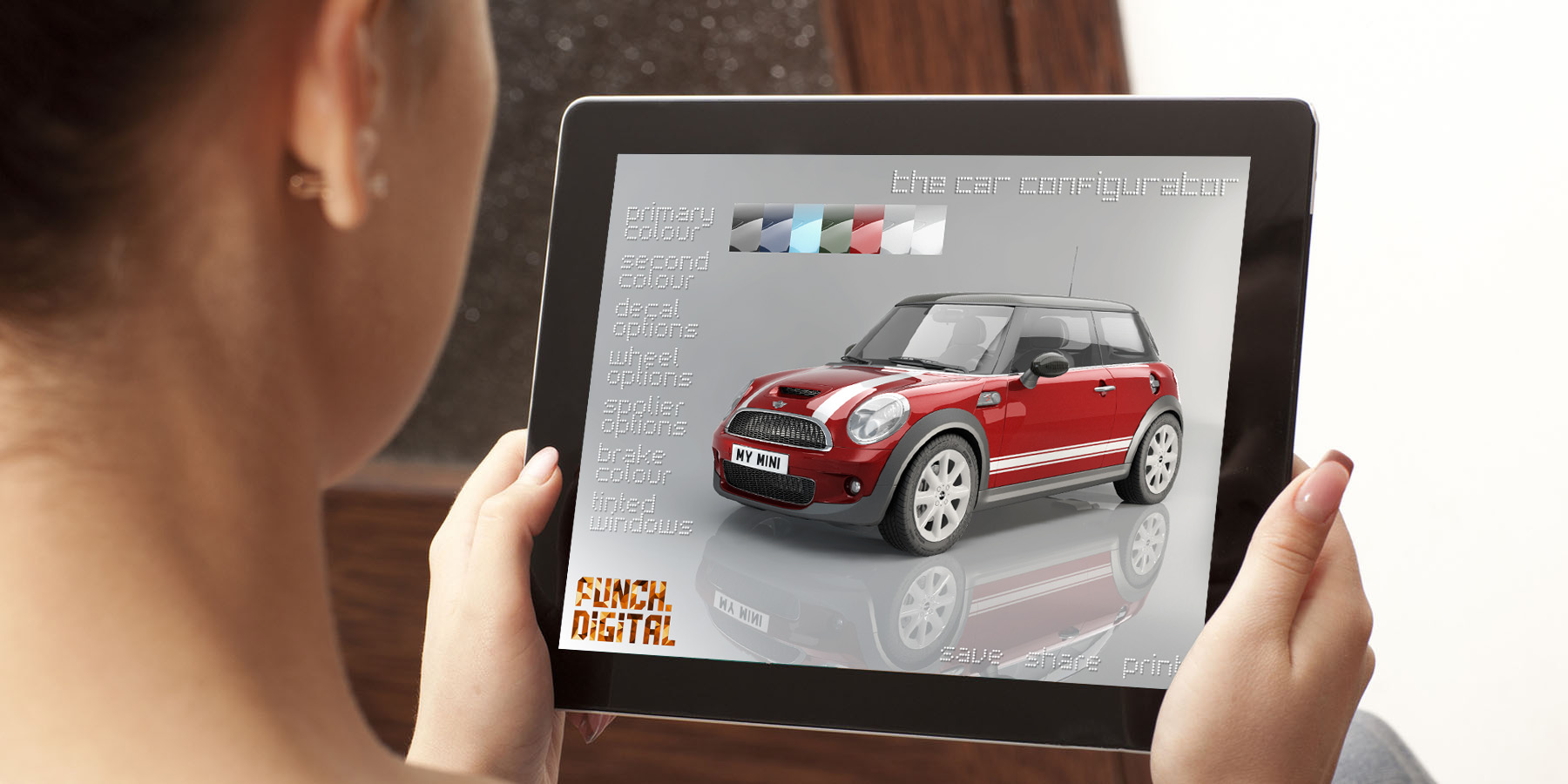 Interactive Configurator Car Mini Ipad