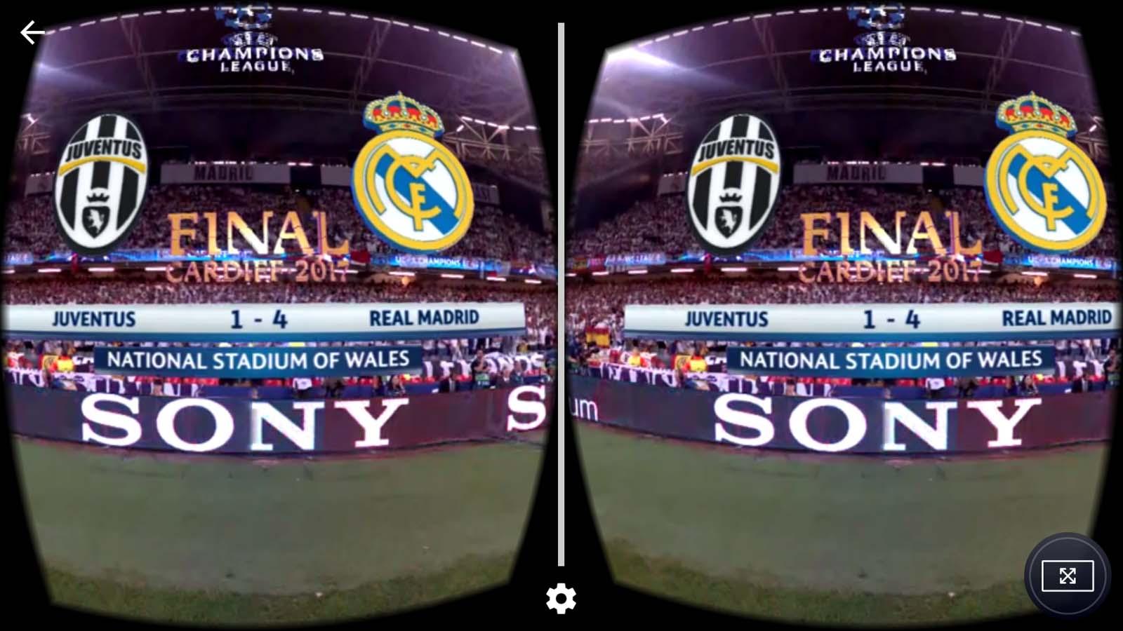 VR headset sport google cardboard football soccer live 360