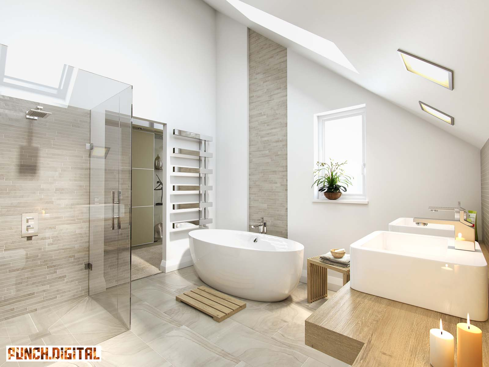 CGI Architectural Visualisation Visualisations Architecture Housing Development Animation Interior Internal KBB Bathroom