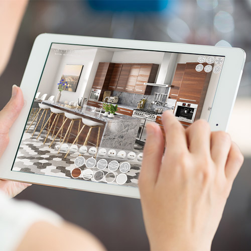 Interactive Configurator Punch Infinity CGI interactive furniture mobile online kitchen