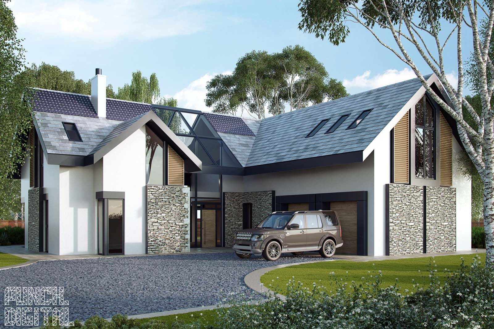 Home Punch Digital Viver Green Architectural Visualisation Animation CGI