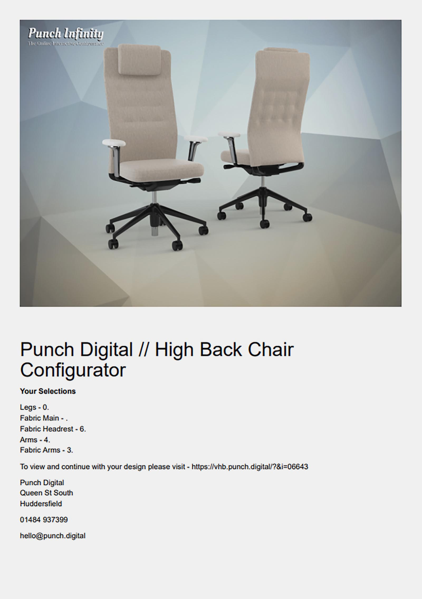 Vitra High Back Interactive Configurator Office Furniture Chair