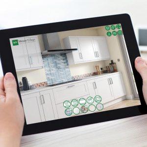Punch Infinity Interactive Configurator CGI Tiles Kitchen