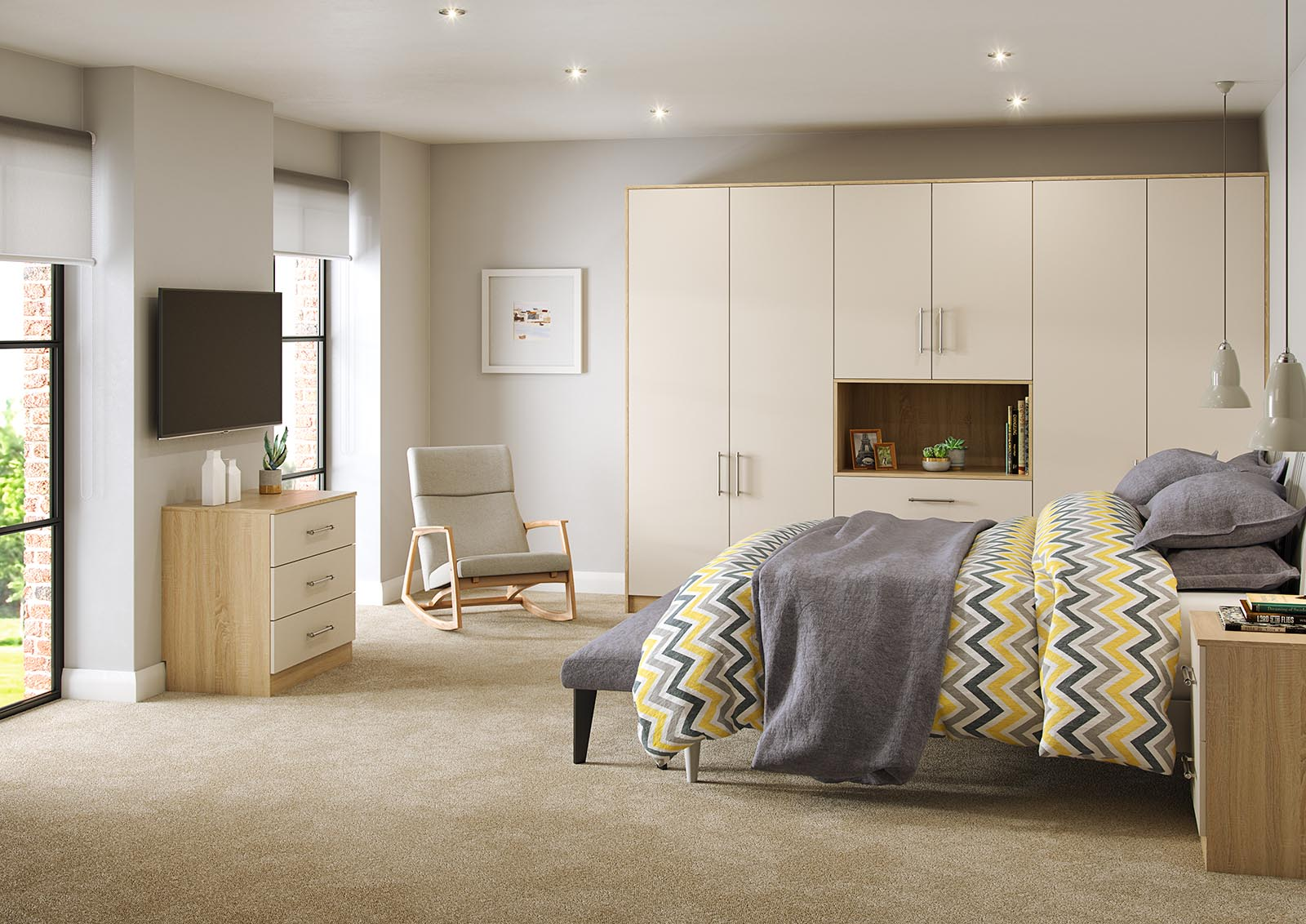 Interior CGI Bedroom Luna Visualisation