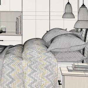 Interior CGI Bedroom Luna Visualisation