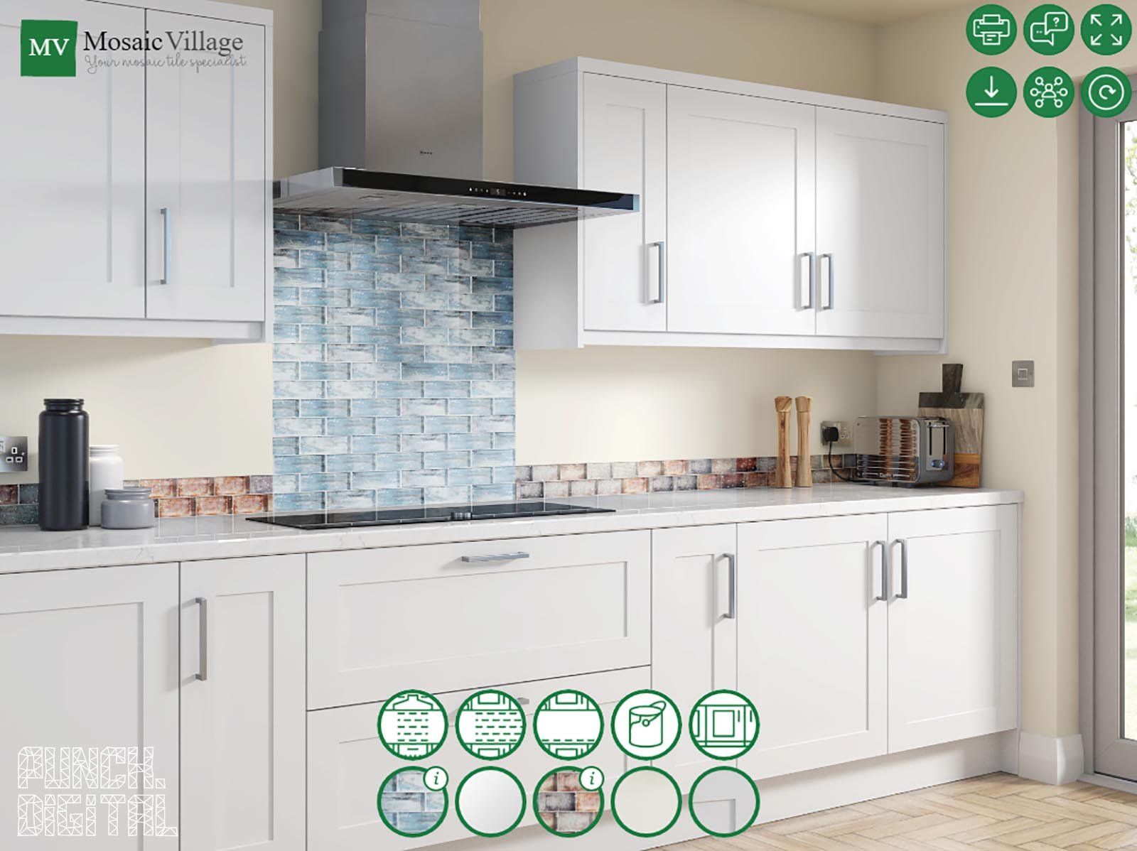 Punch Infinity Interactive Configurator CGI Tiles Kitchen