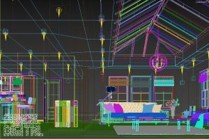 Electric Radiators product cgi visualisation digital room set