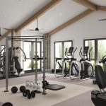 Gym Fredericsburg Interior CGI Visualisation Digital Room Set