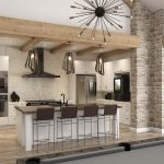 Kitchen Fredericsburg Interior CGI Visualisation Digital Room Set