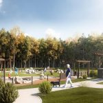 Chelsea 88 Landscape CGI Illustration Dog Park