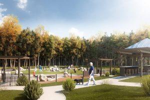 Chelsea 88 Landscape CGI Illustration Dog Park